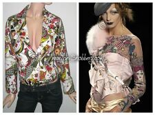 M Christian Dior Jadore John Galliano Tattoo Asymmetrical Couture Zipper Jacket