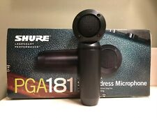Shure PGA181-LC Condenser Vocal Instrument Recording Microphone Less Cable