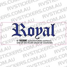 ROYAL (viscount group) Caravan decal, sticker, vintage, retro, graphics
