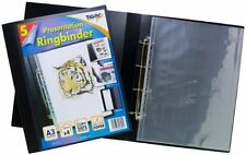 Ring binder Tiger A3 deluxe PORTRAIT 4D ringbinder file black + 5 sleeves 301794