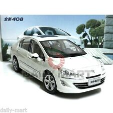 1/18 Scale 2012 Peugeot 408 White DieCast Toy Car Model