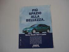 advertising Pubblicità 1997 MAZDA 323 F LANTIS