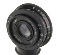 Industar-50-2 50mm 3.5 USSR lens M42 pancake Pentax Canon Sony A tessar Obiettiv