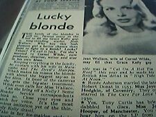 ephemera 1958 - article jean wallace may fill grace kelly gap