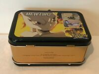 Pokemon The Movie Vintage Mewtwo Mini Lunch Box Tin 1998 Card Holder Used Flaw