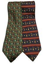 Lot of 2 Tommy Hilfiger Neckties Golfing Golf Themed