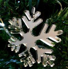 Mirroring GHIACCIATO fiocco di Neve Decorazioni Albero Di Natale -