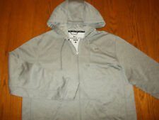 NIKE THERMA-FIT FULL ZIP GRAY HOODED SWEATSHIRT JACKET MENS LARGE EXCELLENT COND