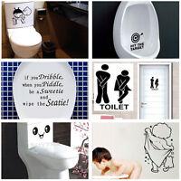 Durable Toilette Salle De Bain Décoration Siège Art Autocollant Mural PM