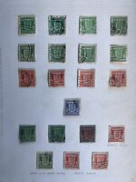 Guernsey 1941-44 War Occupation Stamps On Page
