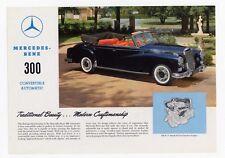 Mercedes-Benz 300 Convertible Automatic depliant epoca originale brochure
