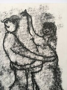 "JULIAN DYSON 1936-2003 Original Drawing / Monotype  ""The Dance"" 2000 SIGNED"