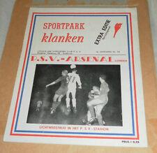 RARE 1959/60 PSV EINDHOVEN V ARSENAL FRIENDLY