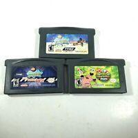 Lot of 3 GBA Spongebob Squarepants Games - Nintendo Gameboy Advance