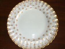 Spode Fleur de Lys Gold Dinner Plate Y8063 Made in England Slightly Crazed