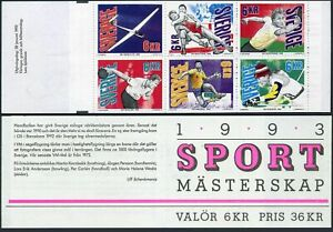 Sweden 1985-1990a booklet,MNH.Mi MH 179. Sport Championships,1993.Gliding,skiing
