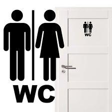 WC Aufkleber Türschild Toilette Bad Türaufkleber Wandtattoo Badezimmer  Modern