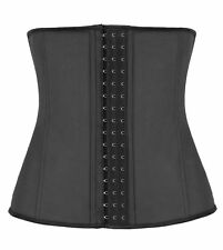 Black Latex Rubber Waist Trainer Cincher Corset Body Shaper New Tummy Girdle AS