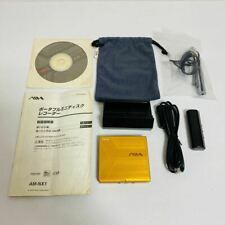 AIWA AM-NX1 Portable MiniDisc Player Yellow Net MD TESTED Working Good F/S