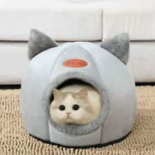 Pet Bed Cat Cave Sleep Cozy House Puppy Tent Dog Warm Indoor Igloo Nest Kennel