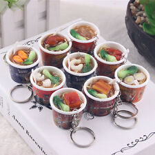 New Chinese Food Model Simulation Key Chains Instant Noodles Phone Pendent Strap