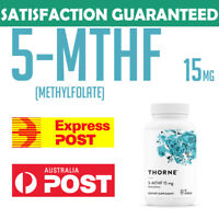 Thorne Research 5-MTHF 15 mg Folate 5MTHF Active Vitamin B9 Folate 30 capsules