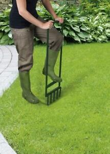 Ambassador Lawn Aerator Soil Breathe Oxygen Roots 5 Prong Metal Hand Tool Spiker