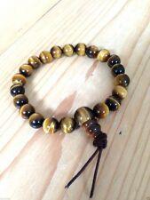 TIGERS EYE Power Bracelet, crystal healing, Reiki, chakra, mala, gemstone