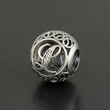 Authentic Genuine Pandora Sterling Silver Vintage Letter L Charm - 791856CZ