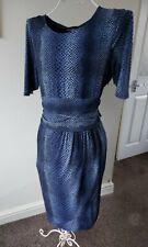 Trinny And Susannah Dress Size 18 Uk Stretchy Blue Snake Print