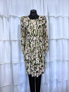 Medium womans SUNDANCE Catalog Pintucked Floral Long Sleeve Dress