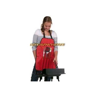 Tablier rouge spécial barbecue avec 4 accessoires