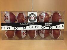 Mississippi State University Bulldogs Tailgate Stringer Set Of 10 Lanterns
