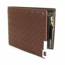 Mens Luxury Soft Quality Stylish Zip Leather Wallet Credit Card Holder Brown UK