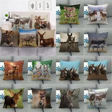 Pasture Farm Animal Donkey Pillow Case Cushion Cover Farmhouse Decor Pillowslip