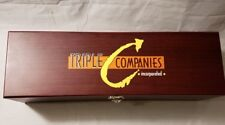"""Vintage Wooden Box Triple Companies Incorporated Approx 14"""" Long 4 3/4"""" Tall"""