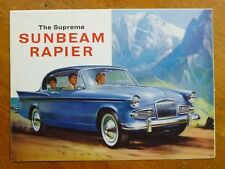 Original Sunbeam Rapier sales brochure, Rootes Ref: 7231/EX/RHD