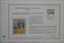 Document Artistique DAP 310 1er jour 1977 Fédération Tennis de Table