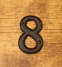 "Solid Cast Iron House Address Number EIGHT 3 1/2"" tall 0184S-13021-8"