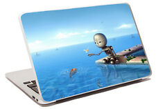fishing robot laptop skin sticker protective cover notebook a24 anime blue