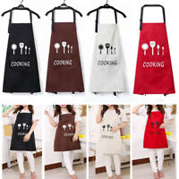 Men Women's Cooking Kitchen Restaurant Chef Adjustable Bib Apron Dress w/ Pocket