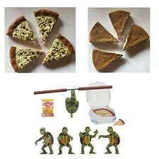 "4 PIZZA SLICES Neca Teenage Mutant Ninja Turtles ACCESSORY SET 2.5"" Inches Long"