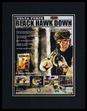 Delta Force Black Hawk Down 2002 Framed 11x14 ORIGINAL Advertisement