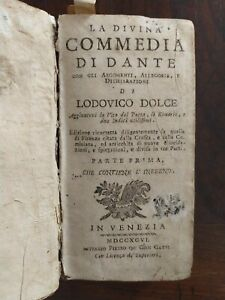 Dante Alighieri Inferno 1796 Divina Commedia