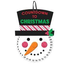 Countdown à Noël jour en bois Décoration artistique Calendrier de l'Avent