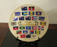 """Souvenir Plate """"Flags of the Caribbean"""" with Bracket"""