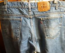 38x30 Fit True Vtg 80s Levis 505 Straight Mens Denim Jeans USA CLASSIC FADE