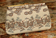 Judith Leiber HERON POND BIRD Silk CRANE Clutch SWAROVSKI CRYSTAL SHOULDER Bag