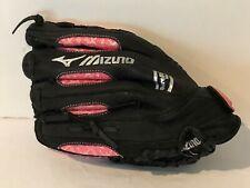 "Mizuno Baseball Softball Glove Mitt Pink Black Leather 11"" Finch RHT New"