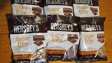 Hershey's Sugar Free Caramel filled Milk Chocolate Bars - 3oz bags - 6 bags